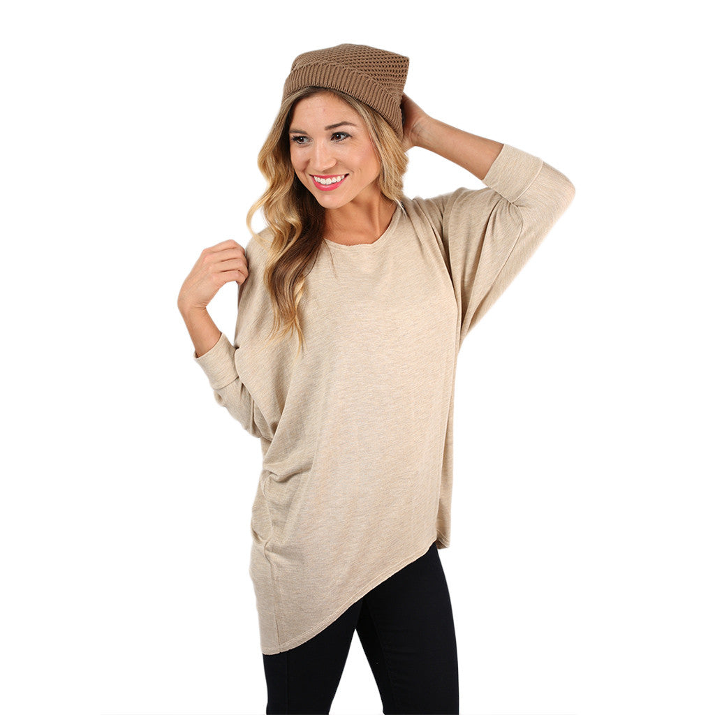 Afternoon Outing Tunic in Oatmeal