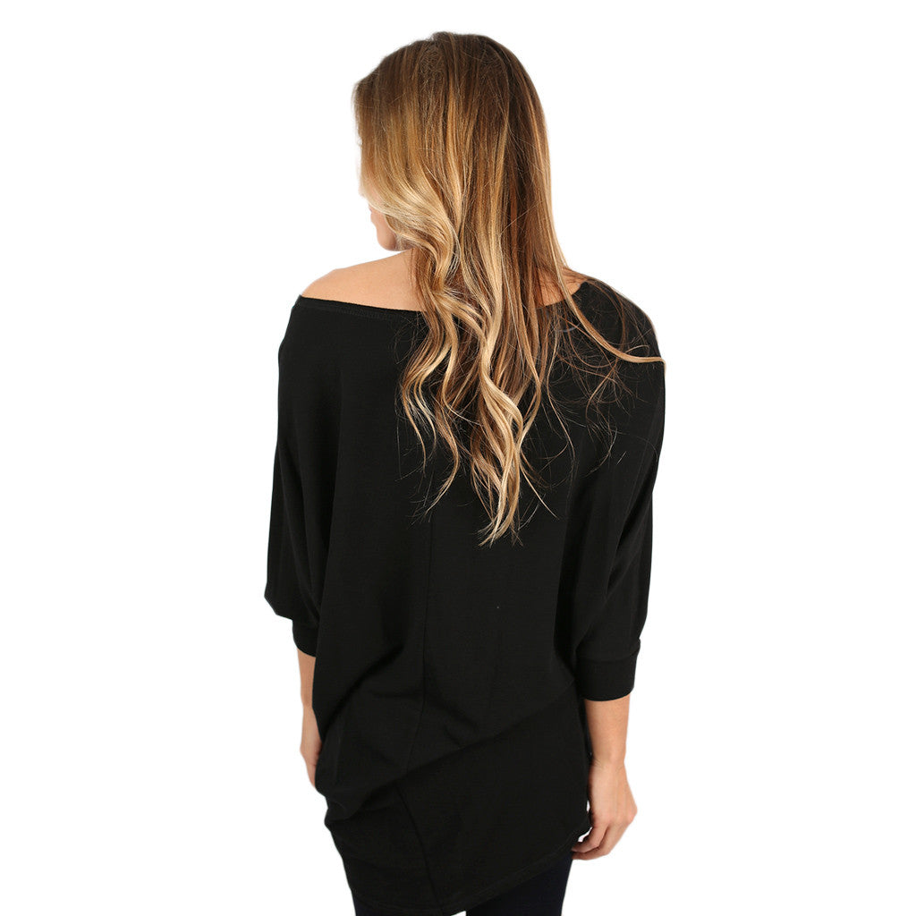 Afternoon Outing Tunic in Black
