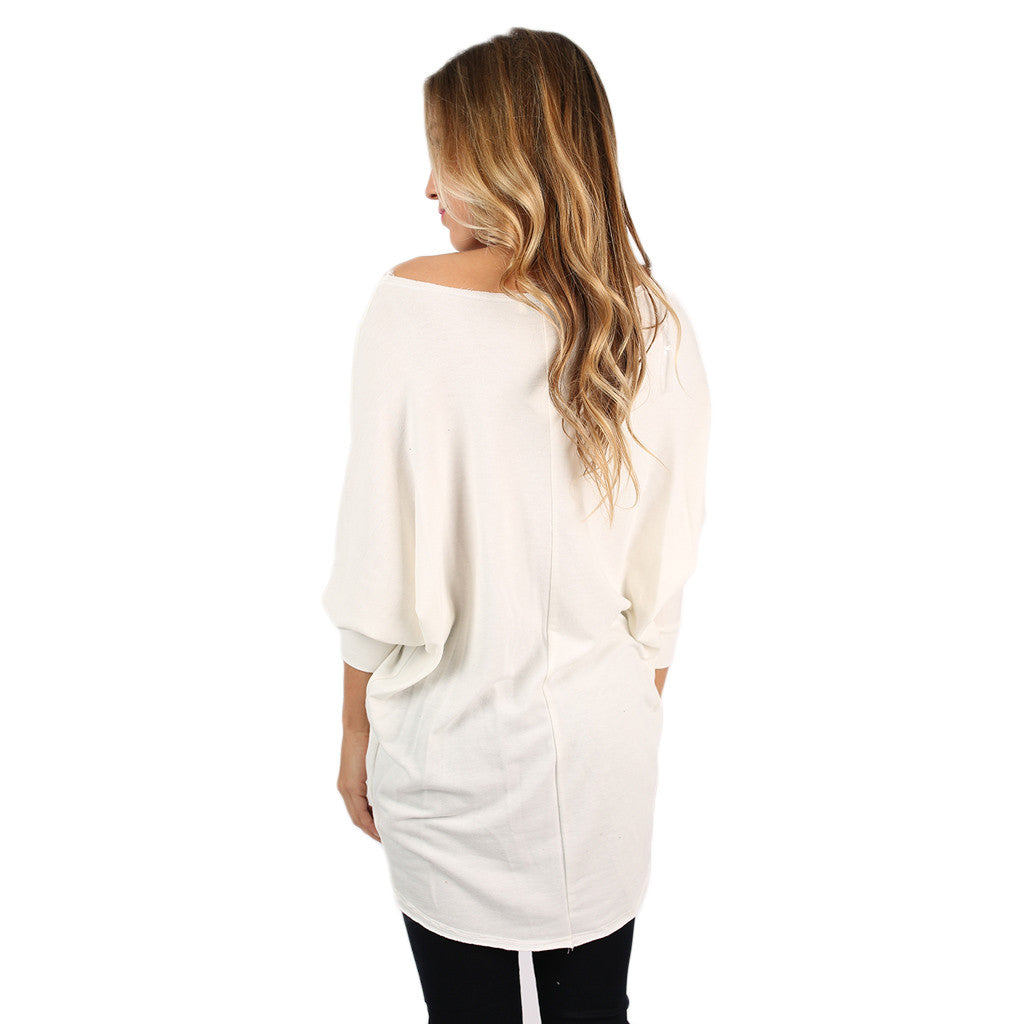 Afternoon Outing Tunic in Ivory