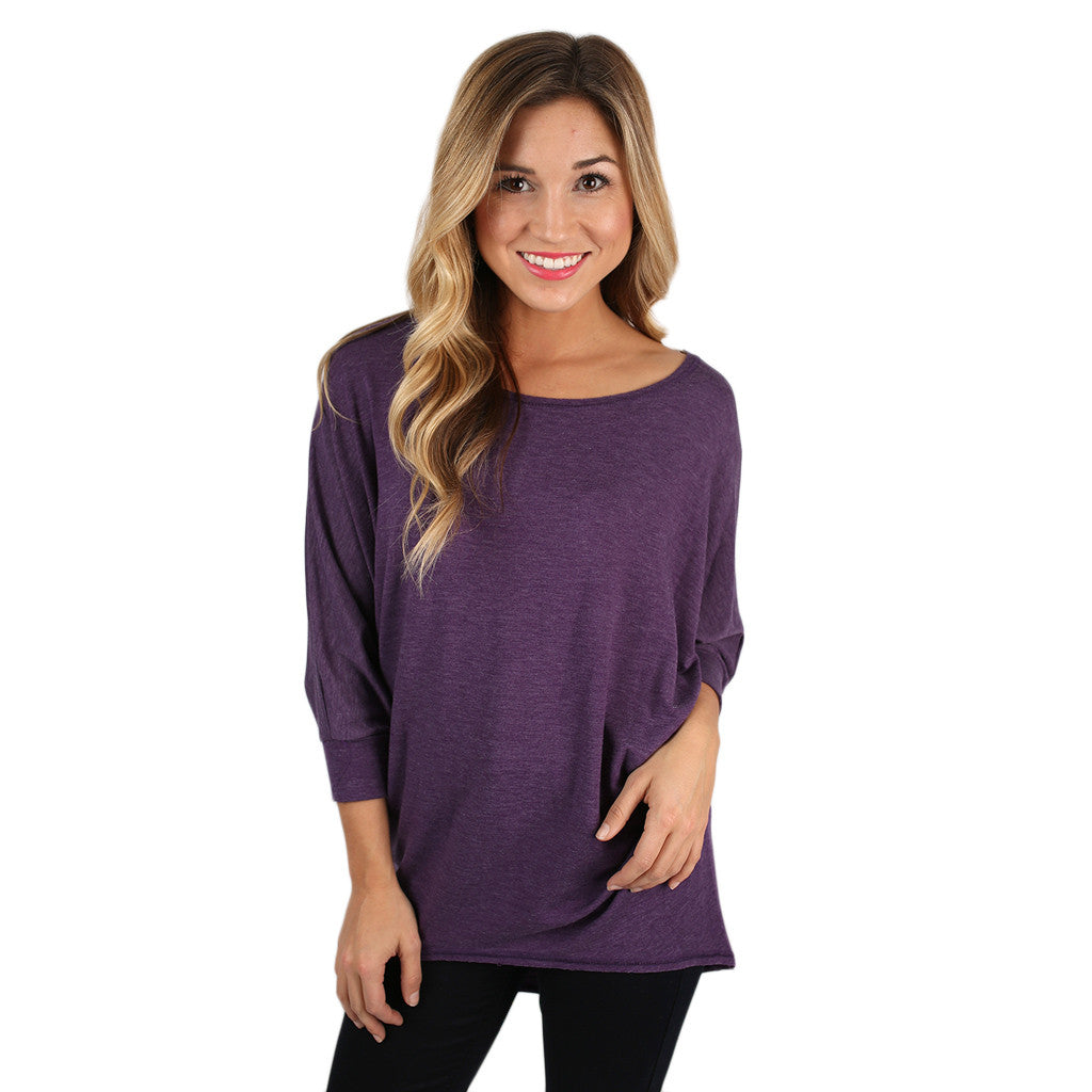 Afternoon Outing Tunic in Purple
