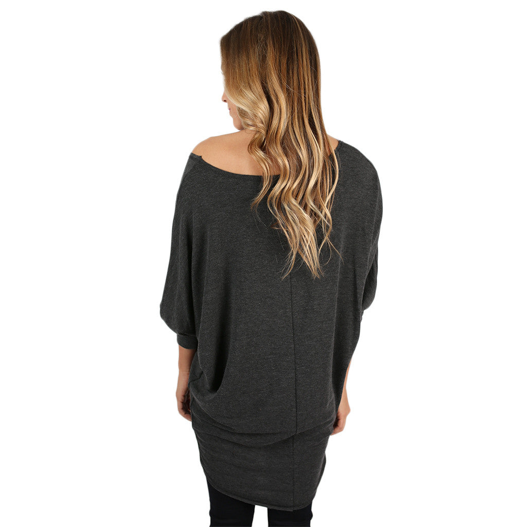 Afternoon Outing Tunic in Charcoal