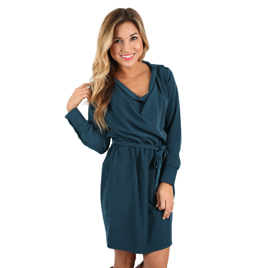 Sparkling Nights Dress in Teal