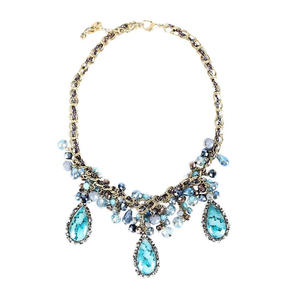 Goddess of Jewels Necklace Teal