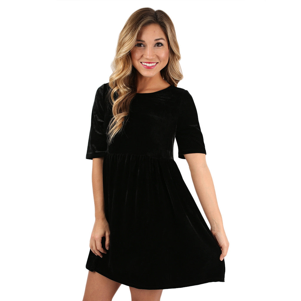 ee402453594 Crushing on you Babydoll Dress Black • Impressions Online Boutique