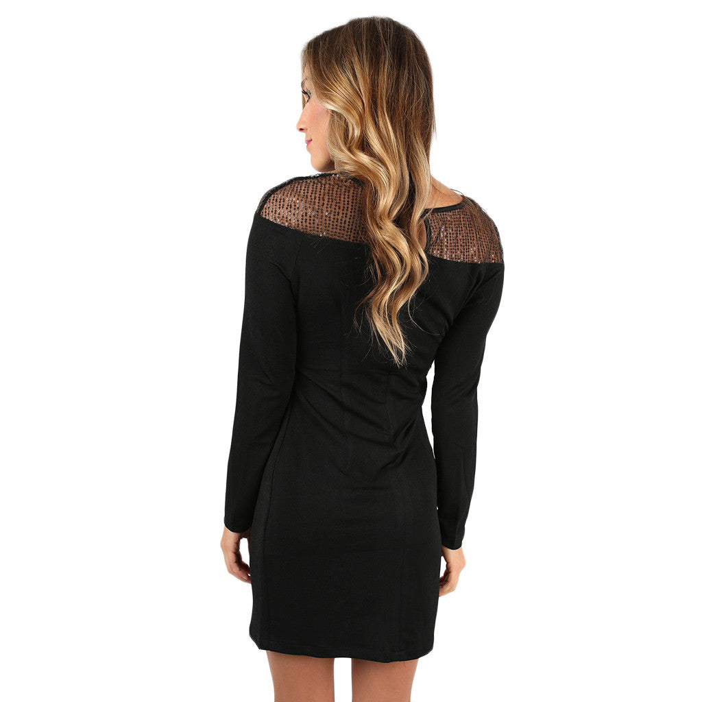 Holiday Dreaming Dress in Black
