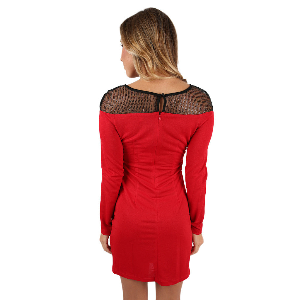 Holiday Dreaming Dress in Red