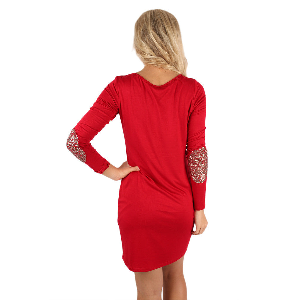 Sparkling Life Dress Red