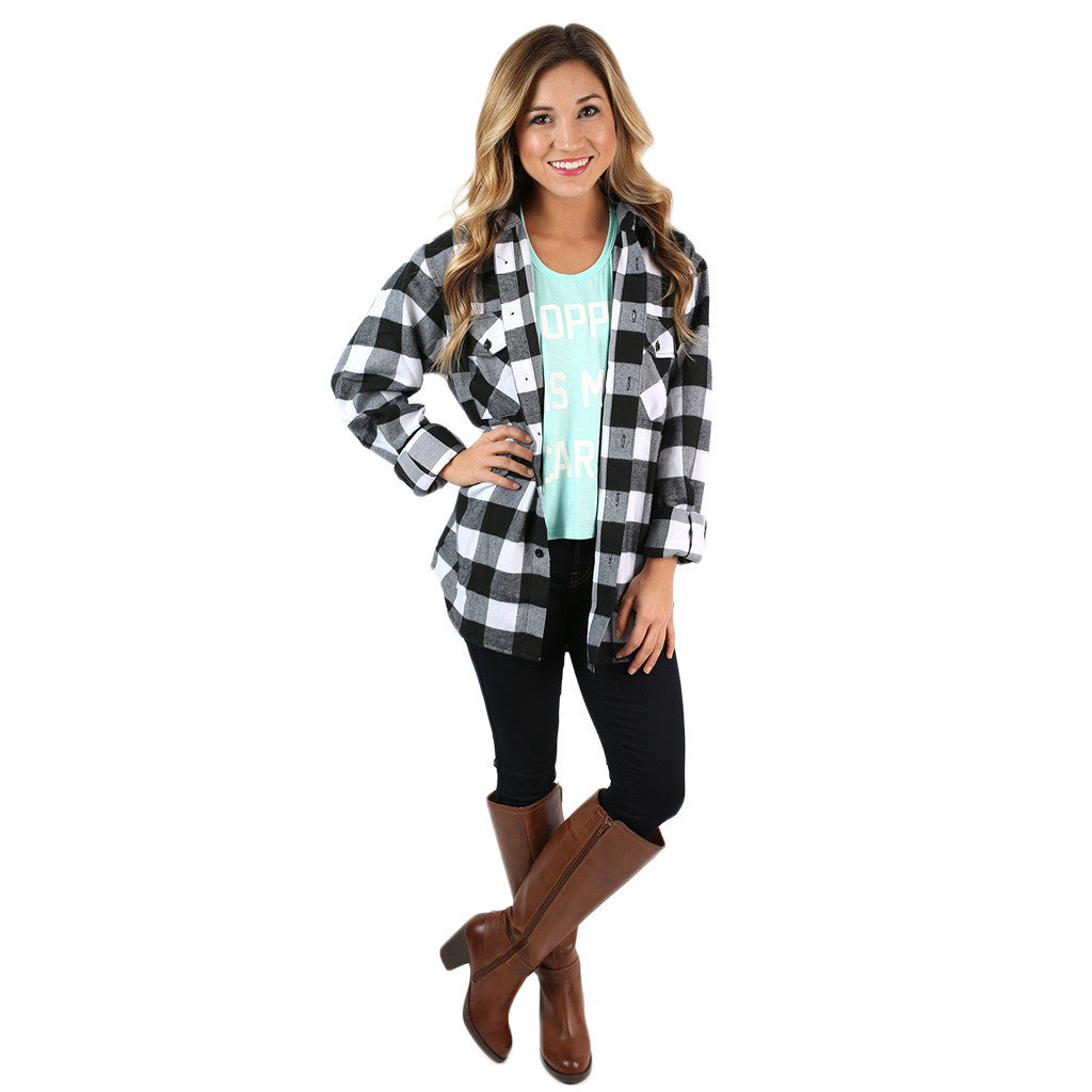 You Always Keep Me Cozy Unisex Flannel in White