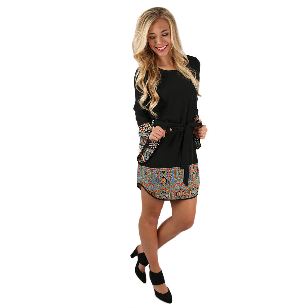 Love Spell Shift Dress Black