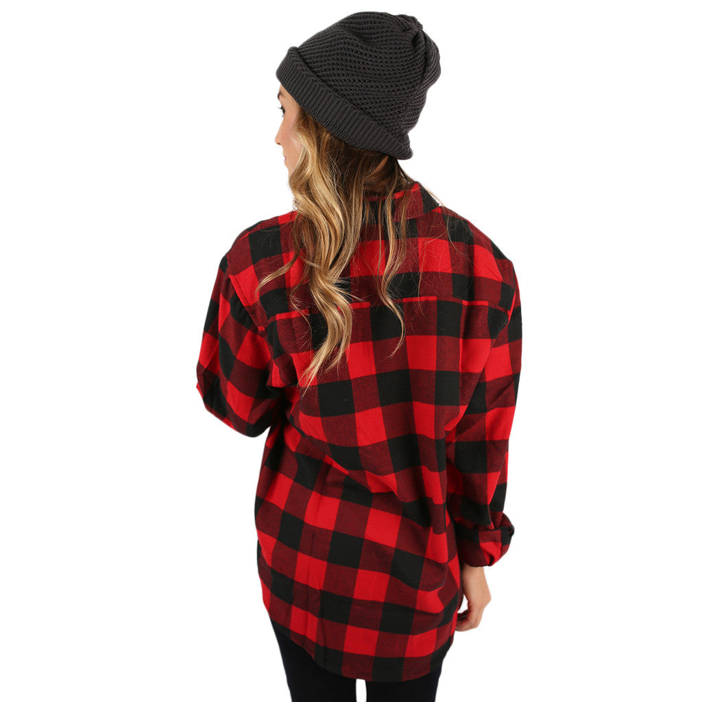 You Always Keep Me Cozy Unisex Flannel in Red