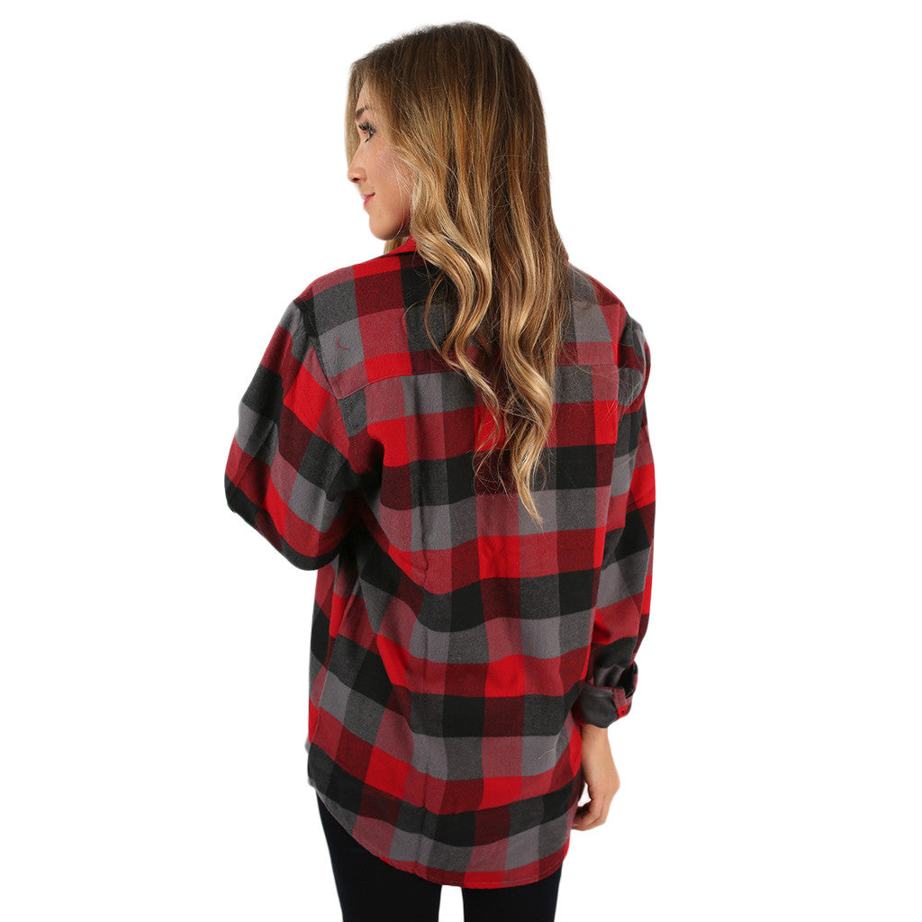 You Always Keep Me Cozy Unisex Flannel in Grey
