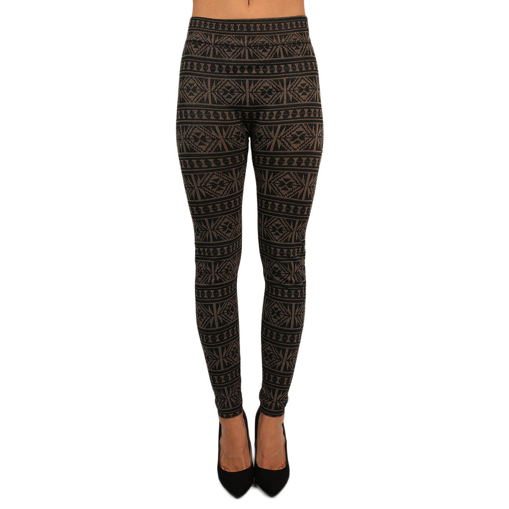 Terry Lined Cozy Leggings Mocha
