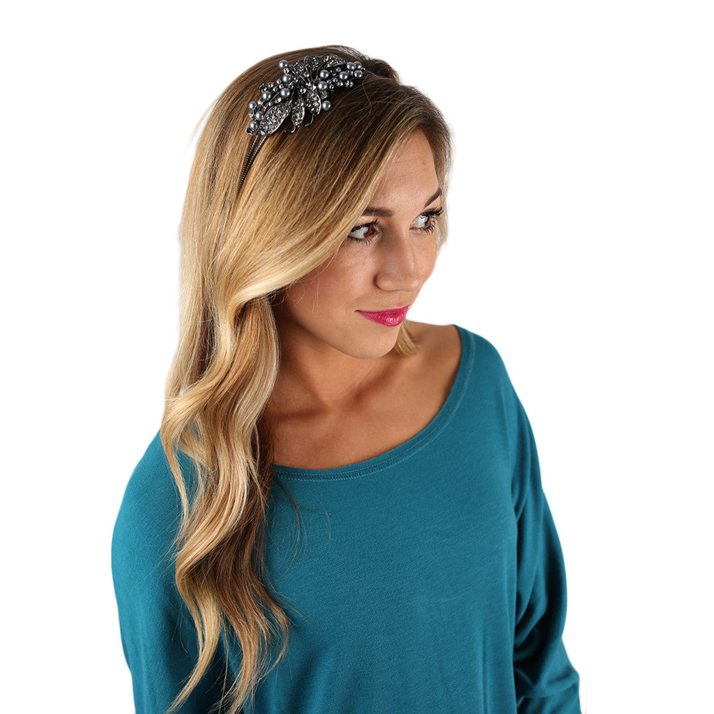 Royal Jewels Headband Black