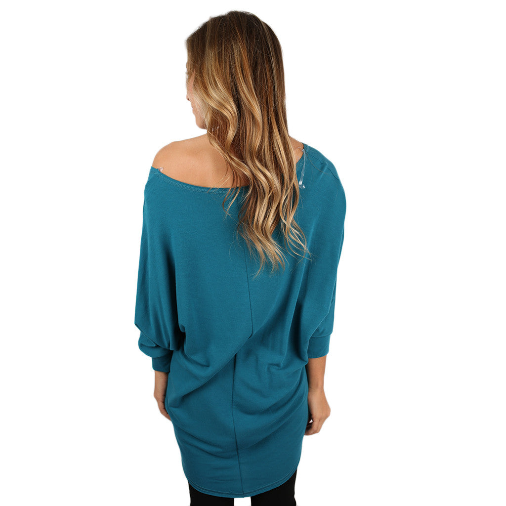 Afternoon Outing Tunic in Teal