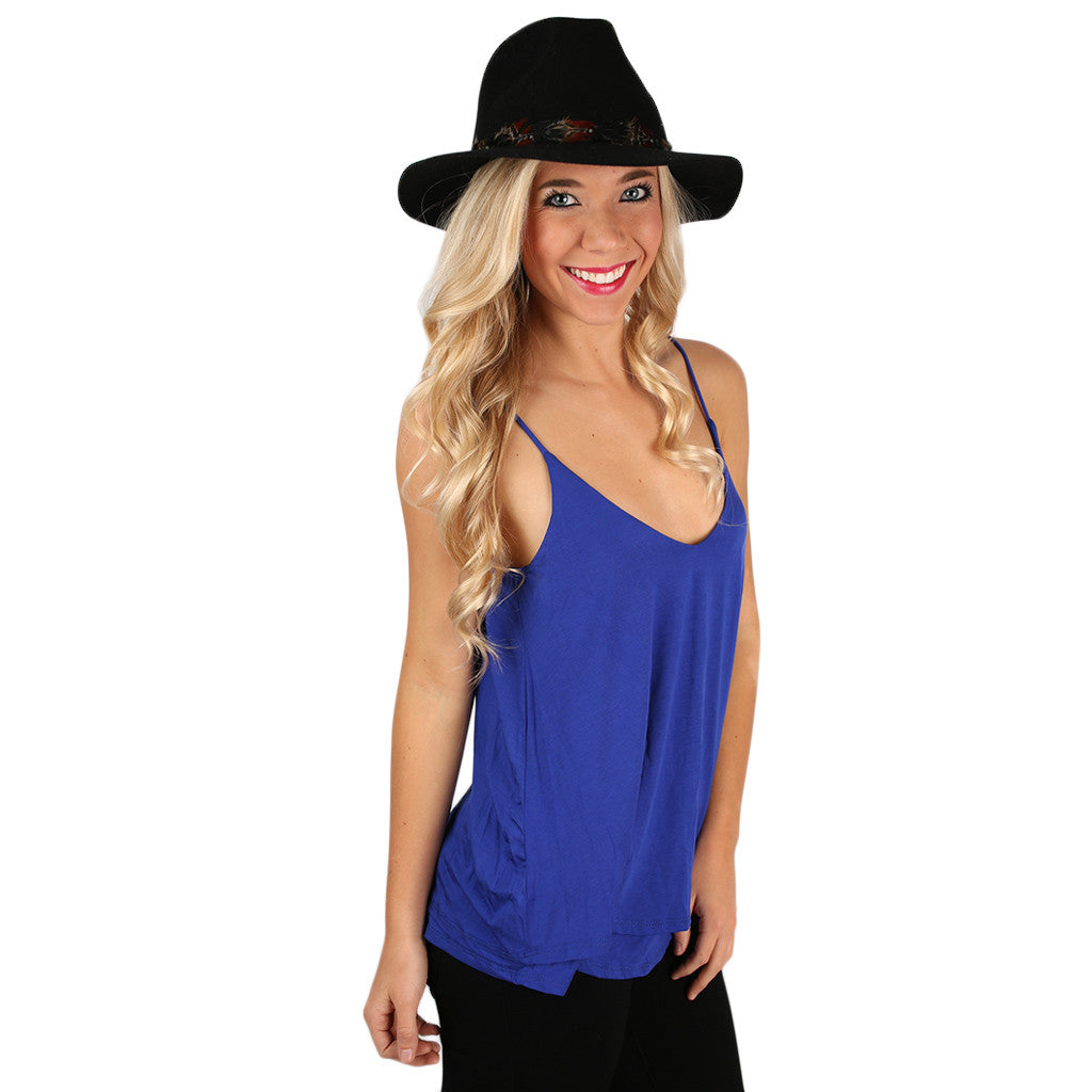 Lovely Layers Tank in Royal Blue
