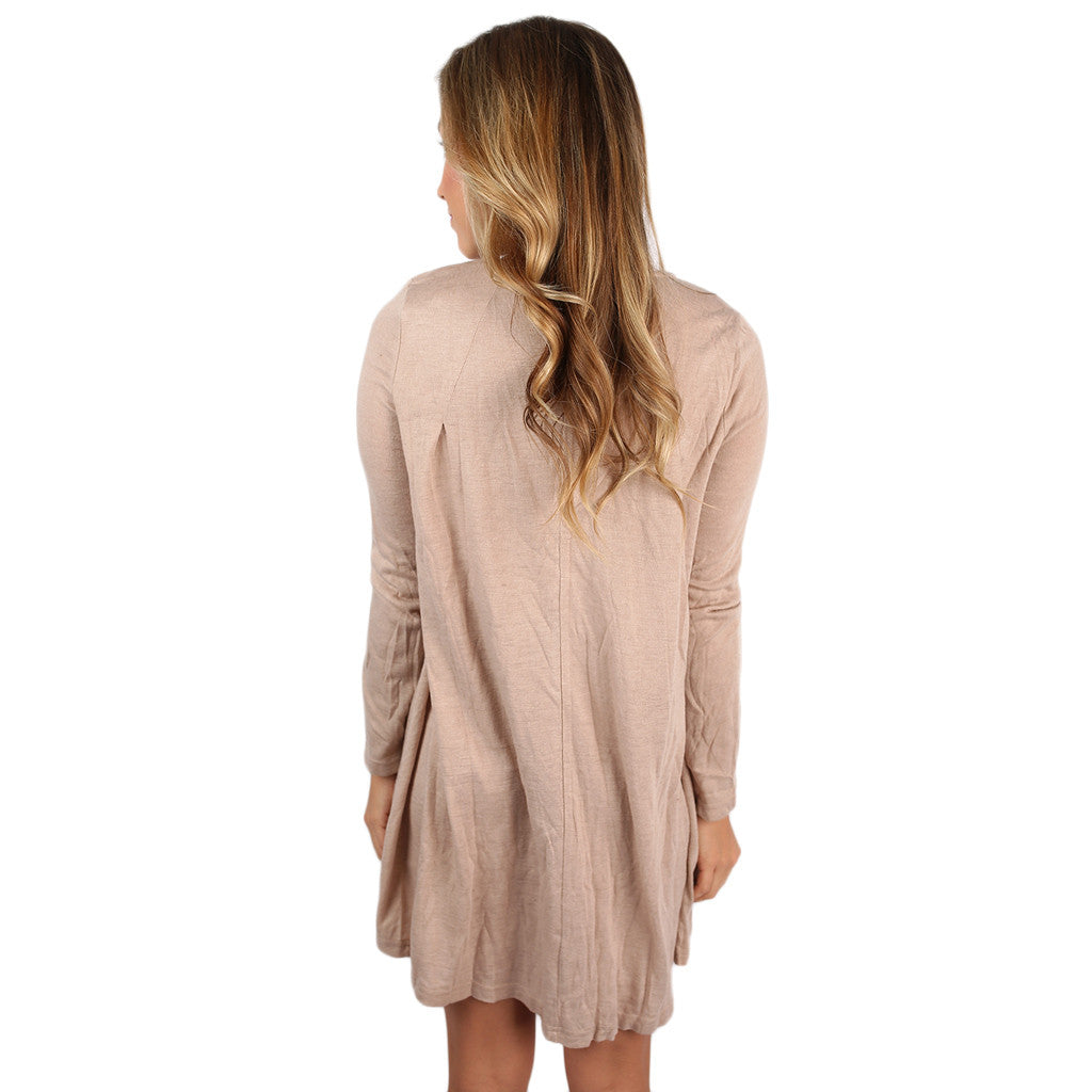 Twirl Me Around Babydoll Dress Taupe