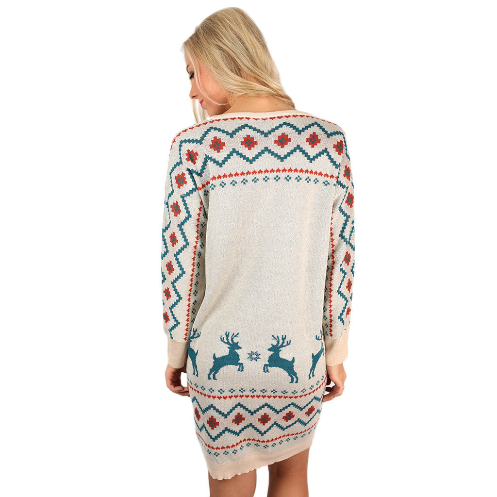 Making Snow Angels Sweater Dress