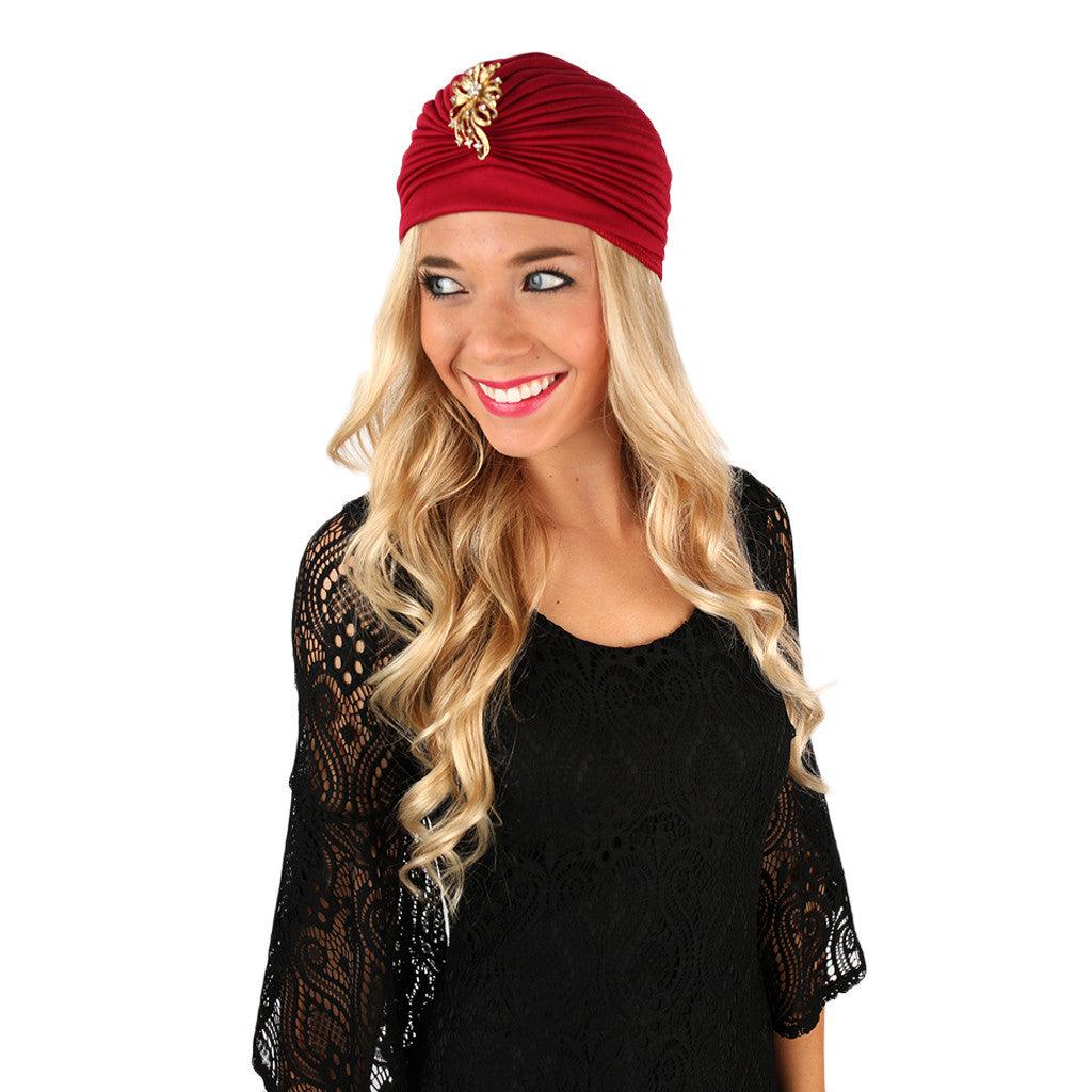 Illuminating Beauty Turban Burgundy
