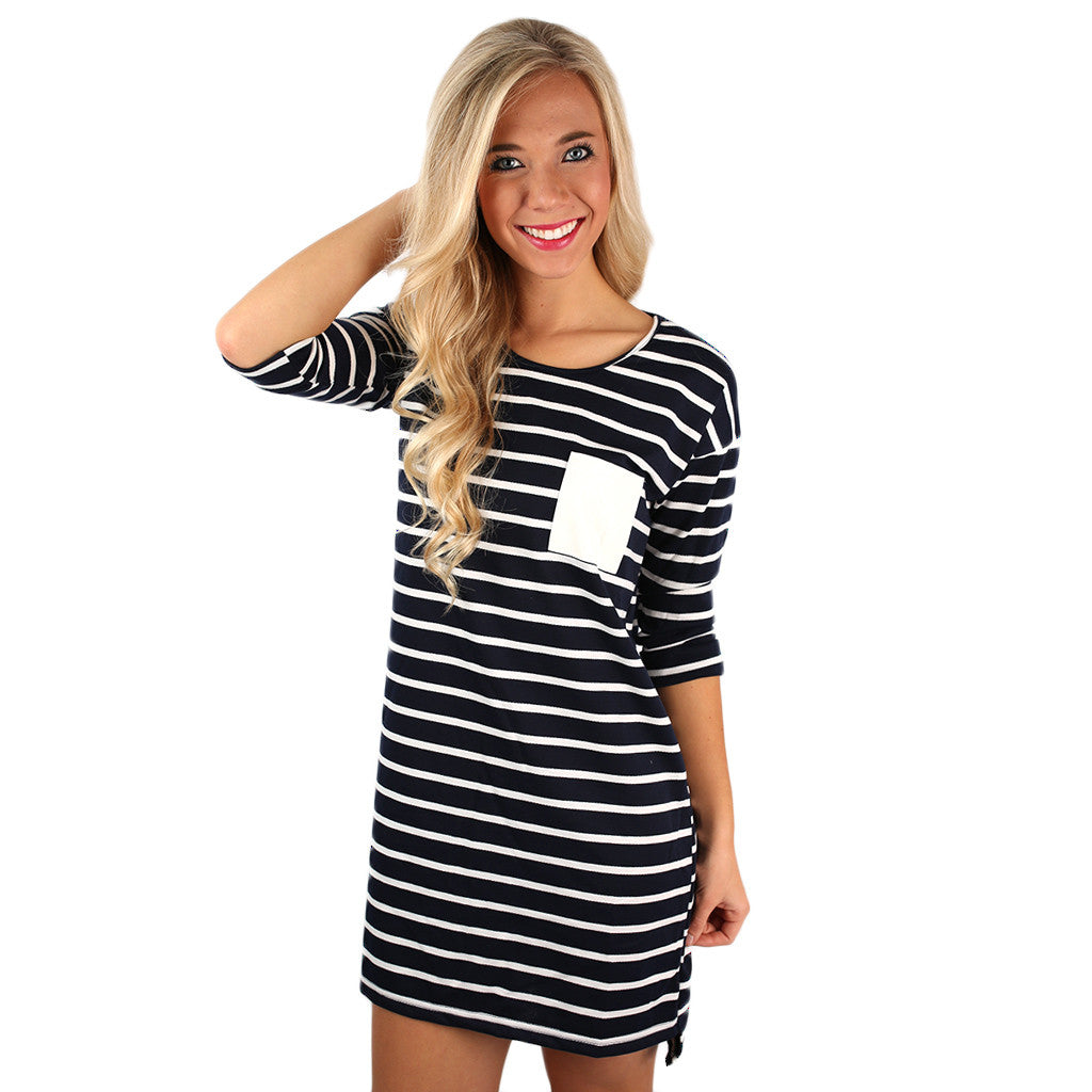 Love in London Dress Navy
