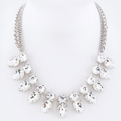 Sparkling at its Best Necklace Clear