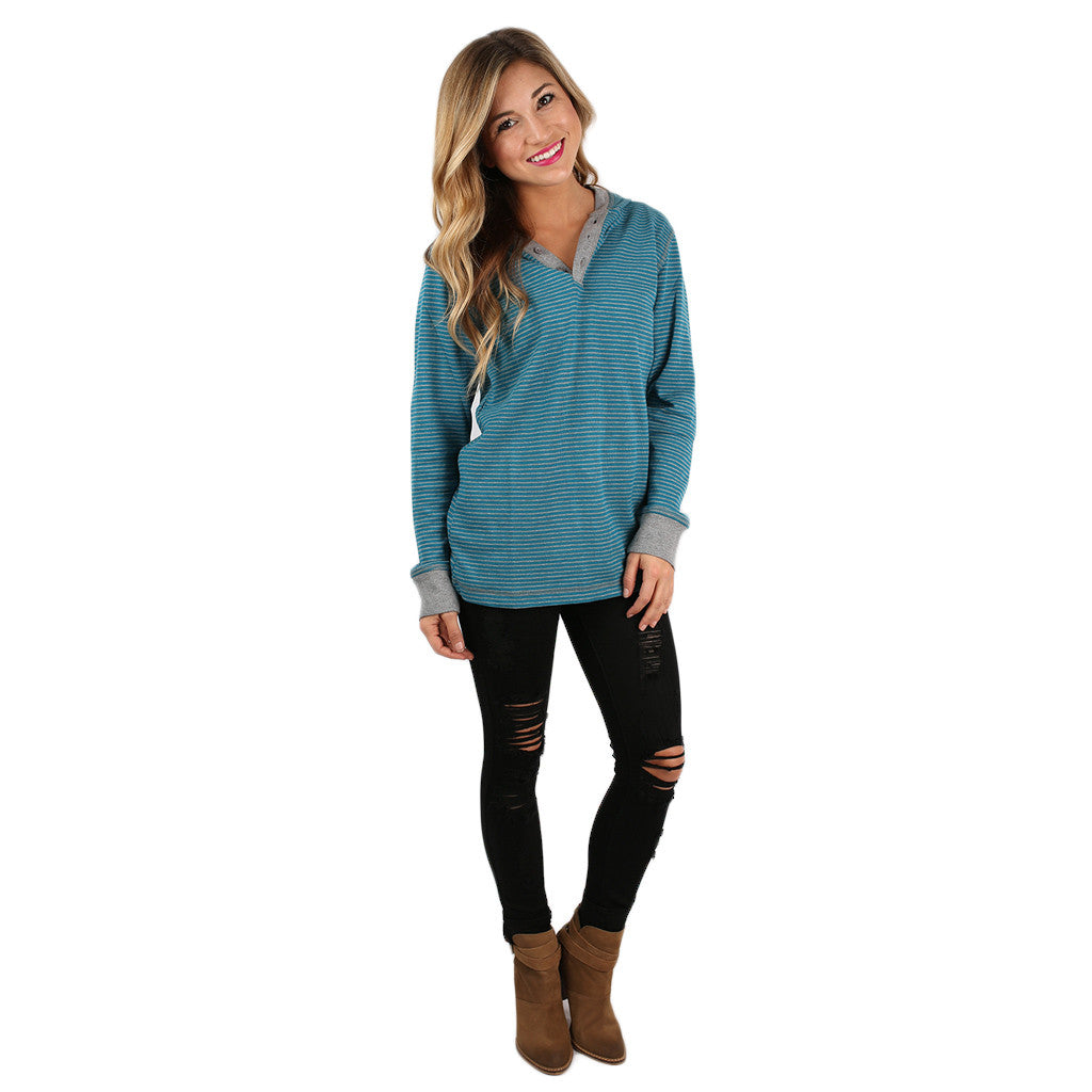 Love & Lattes Unisex Thermal Blue