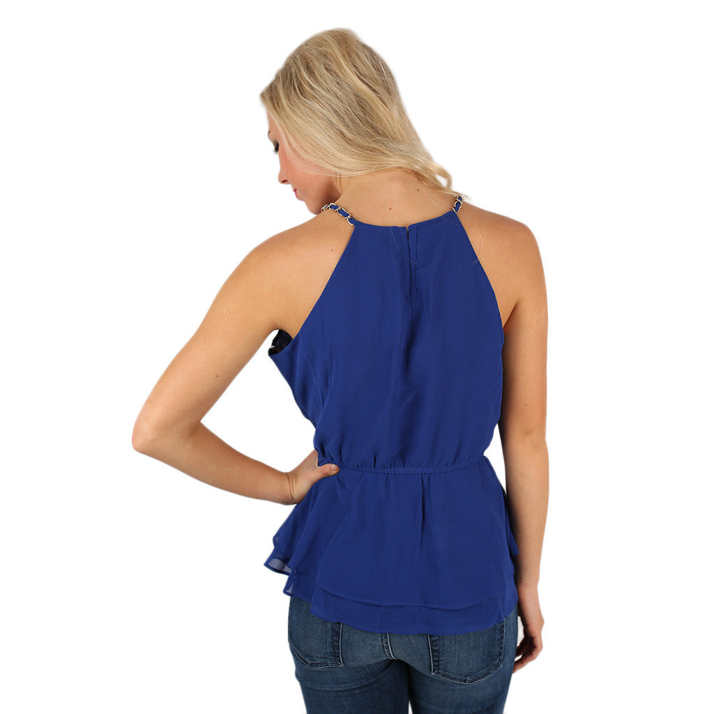 Oh My Chic Top Royal Blue