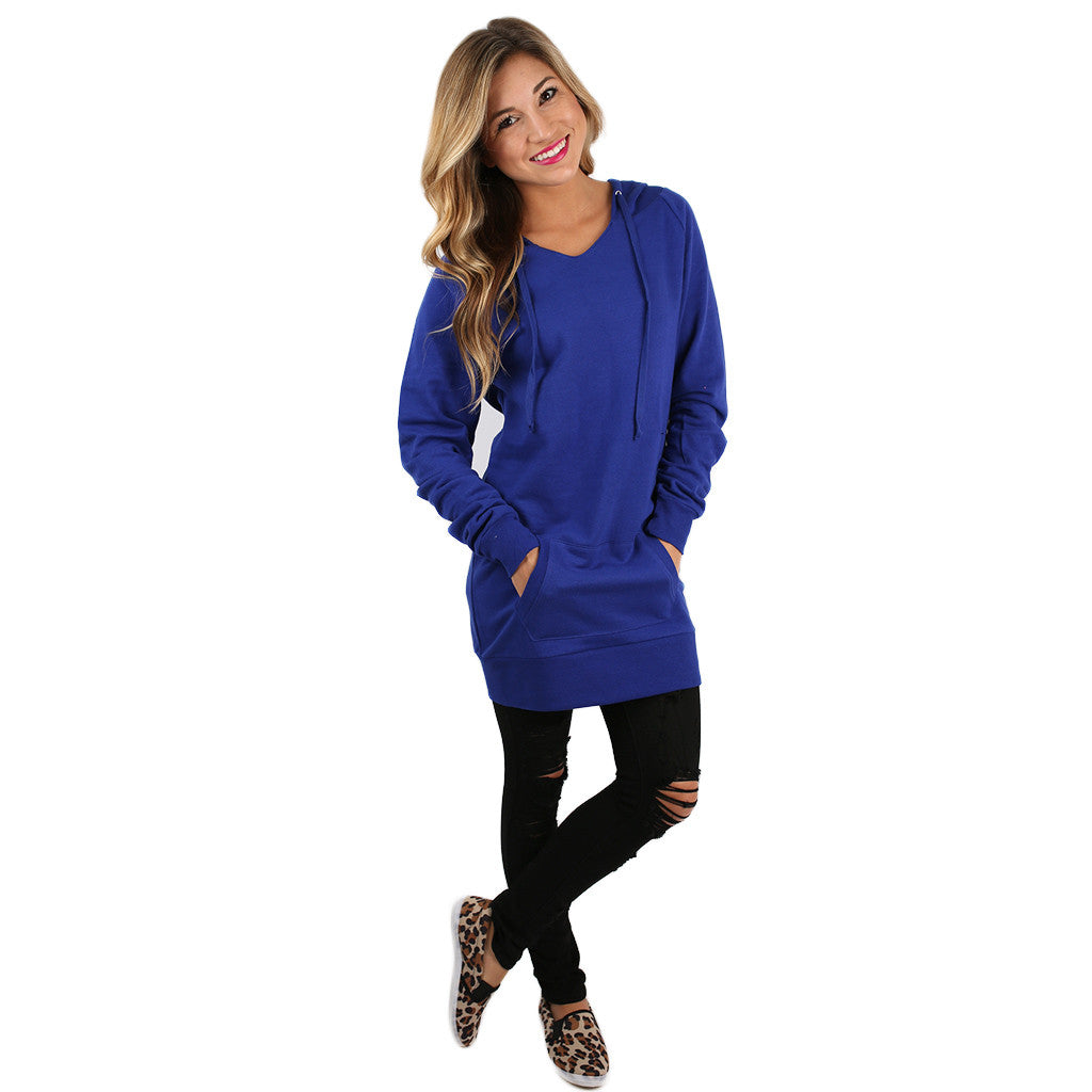 Simply The Comfiest Fleece Lined Hoodie in Royal Blue