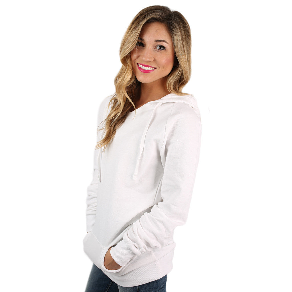 Simply The Comfiest Fleece Lined Hoodie in Ivory