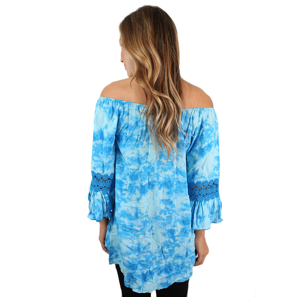 Afternoon Affair Top in Sky Blue