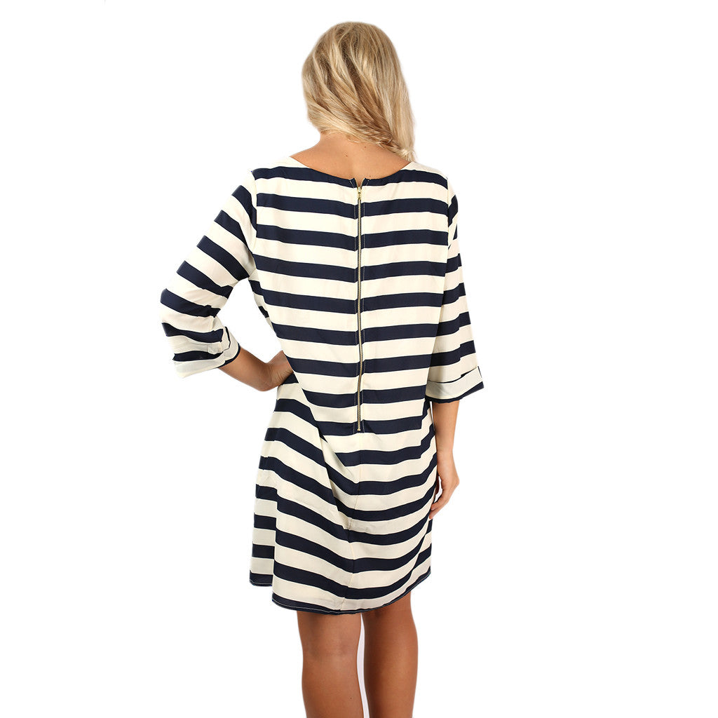Striped Amore Shift Dress