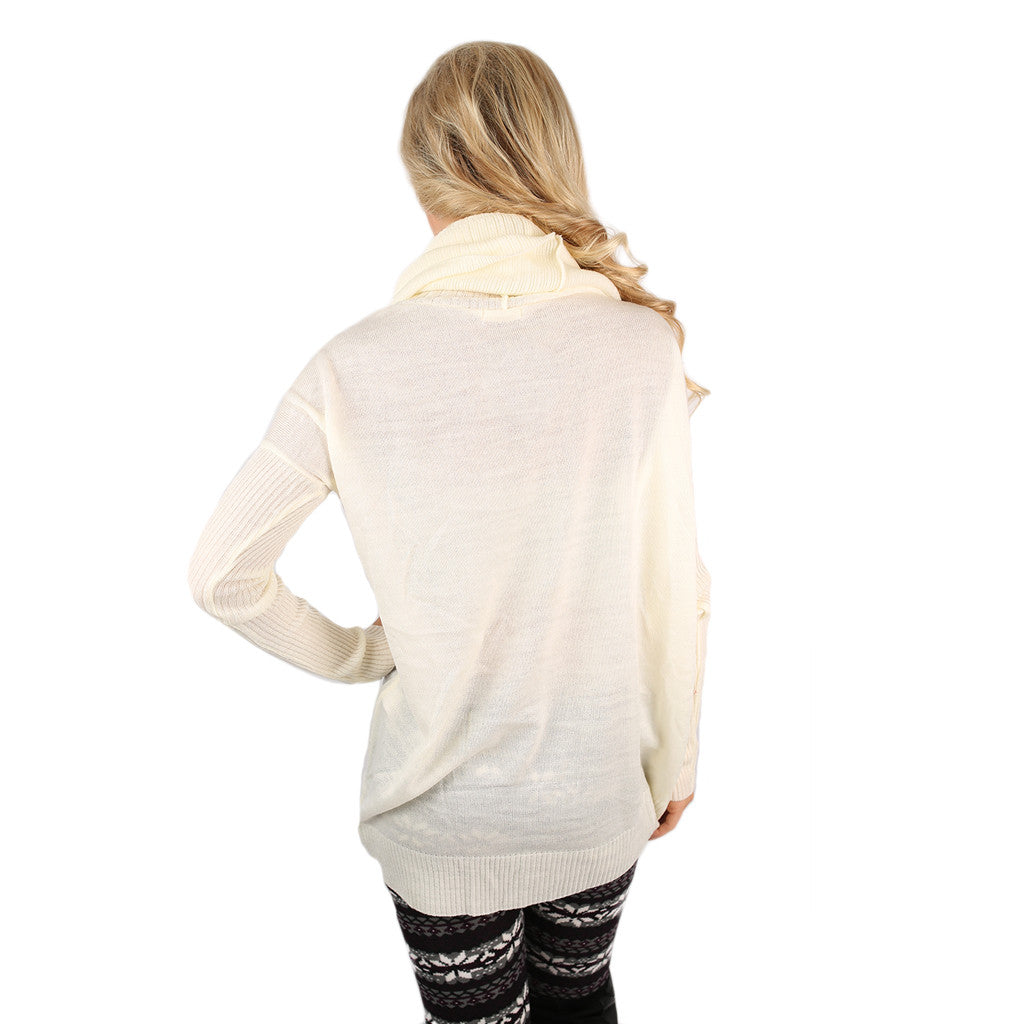 Home is Where I'm with You Tunic Sweater in Ivory