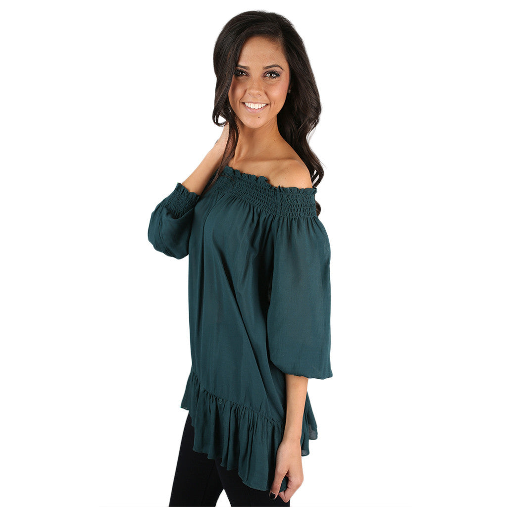 Better Together Top in Dark Teal