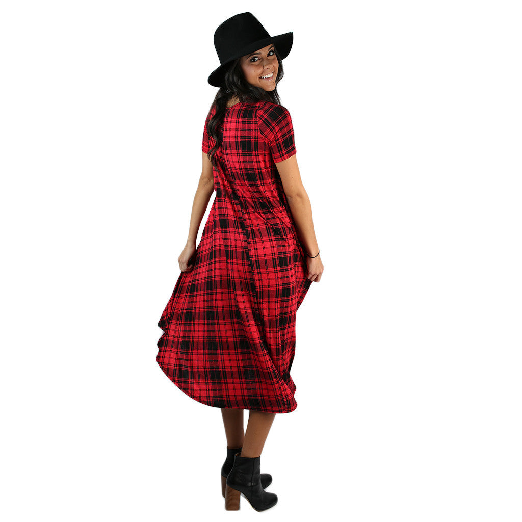 Prettier Everyday Dress Red Plaid