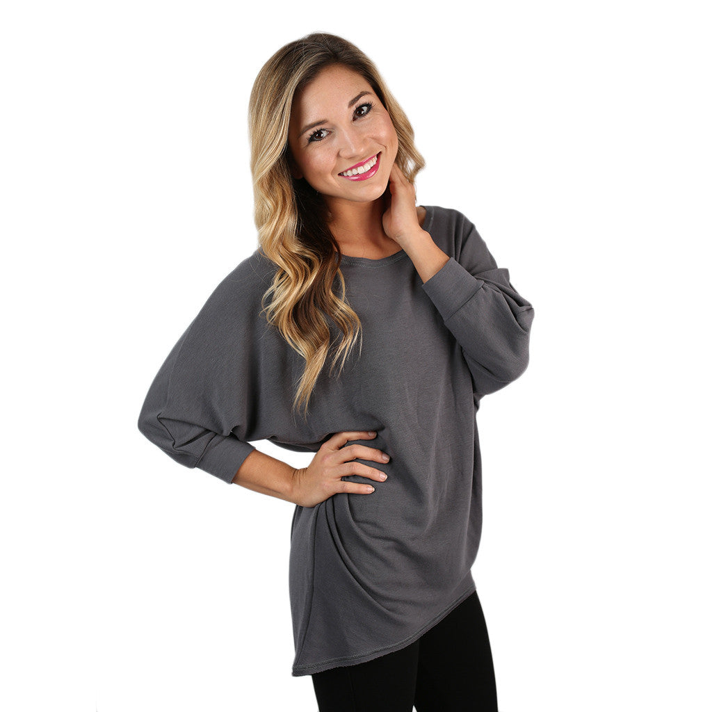 Afternoon Outing Tunic in Grey