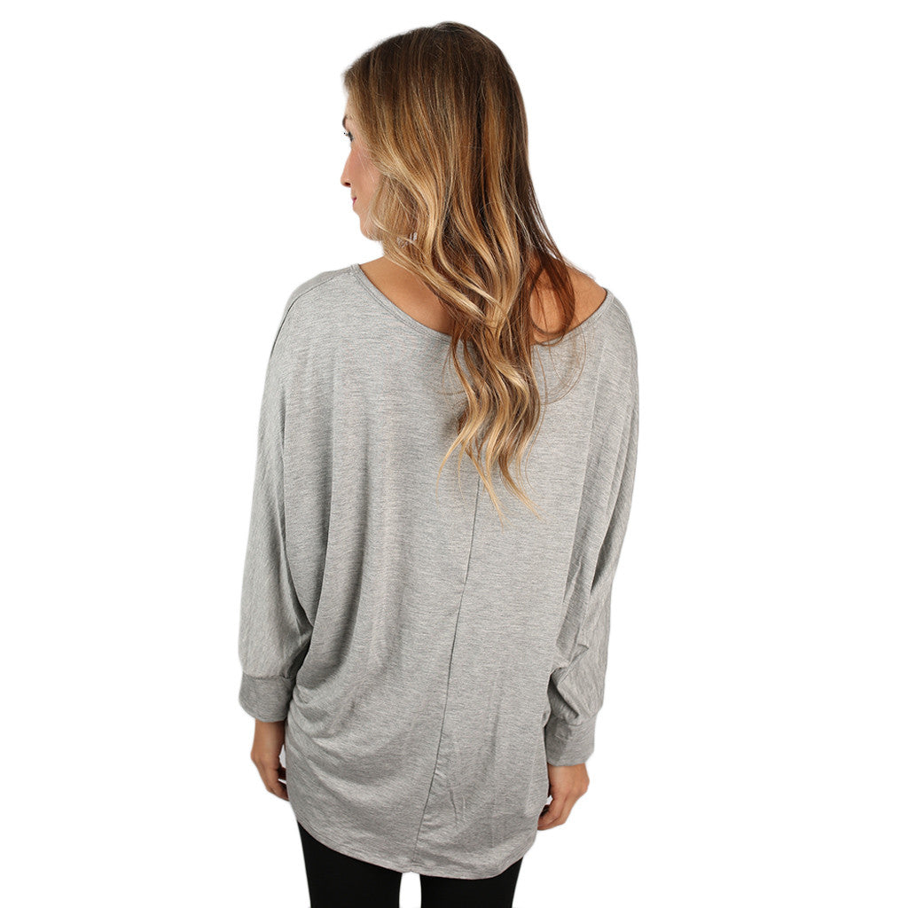 Dress Me Up or Down Tee Heather Grey