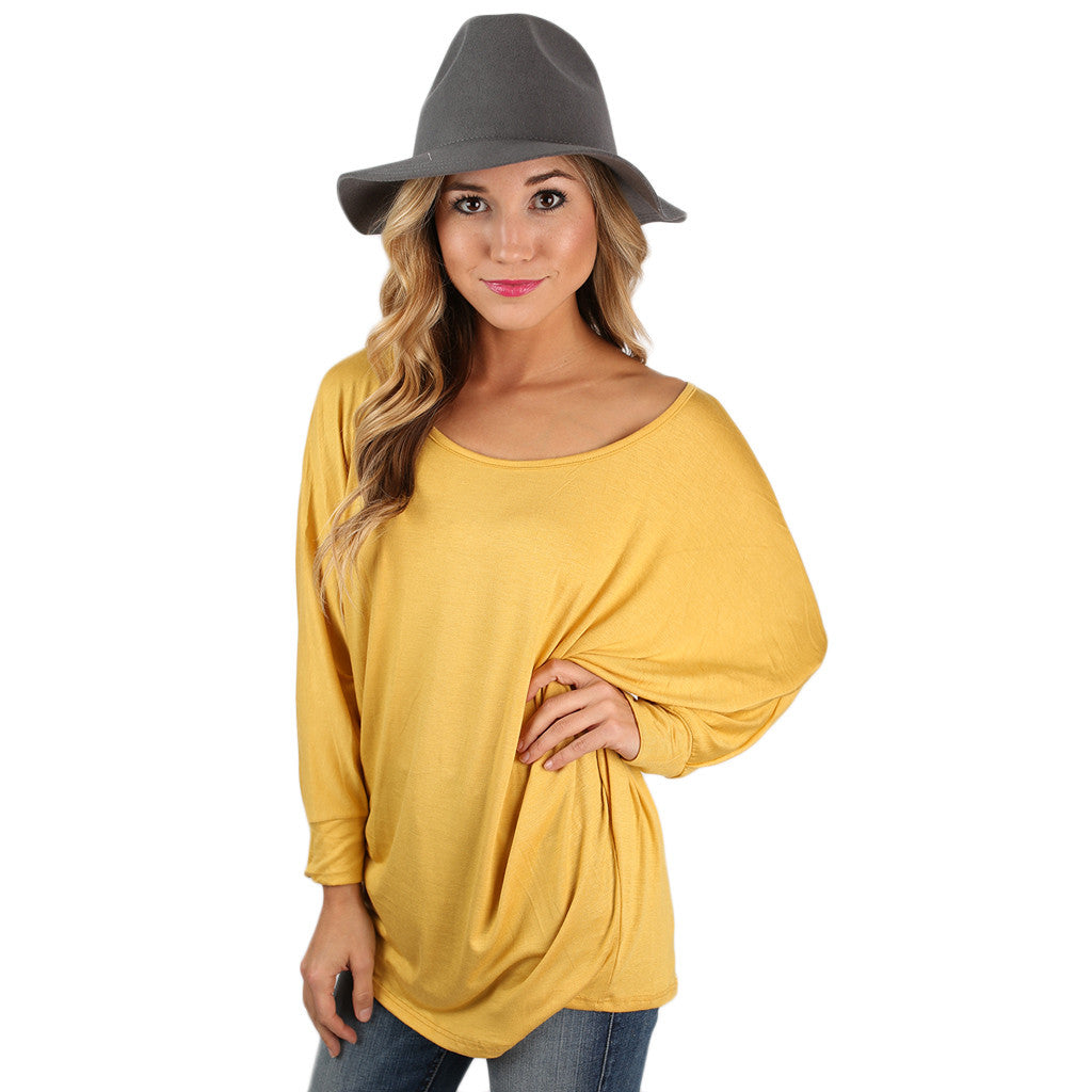 Dress Me Up or Down Tee Mustard