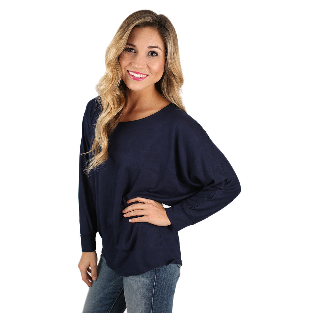 Dress Me Up or Down Tee Navy