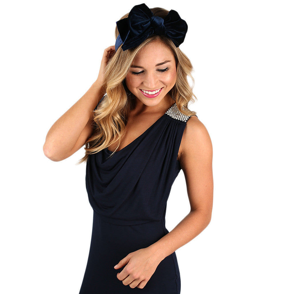 Let Your Radiance Shine Headband Navy