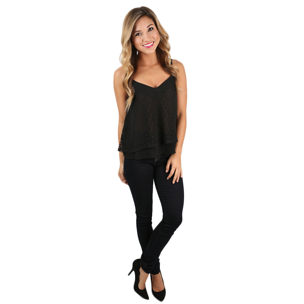 Pretty Little Cami Black