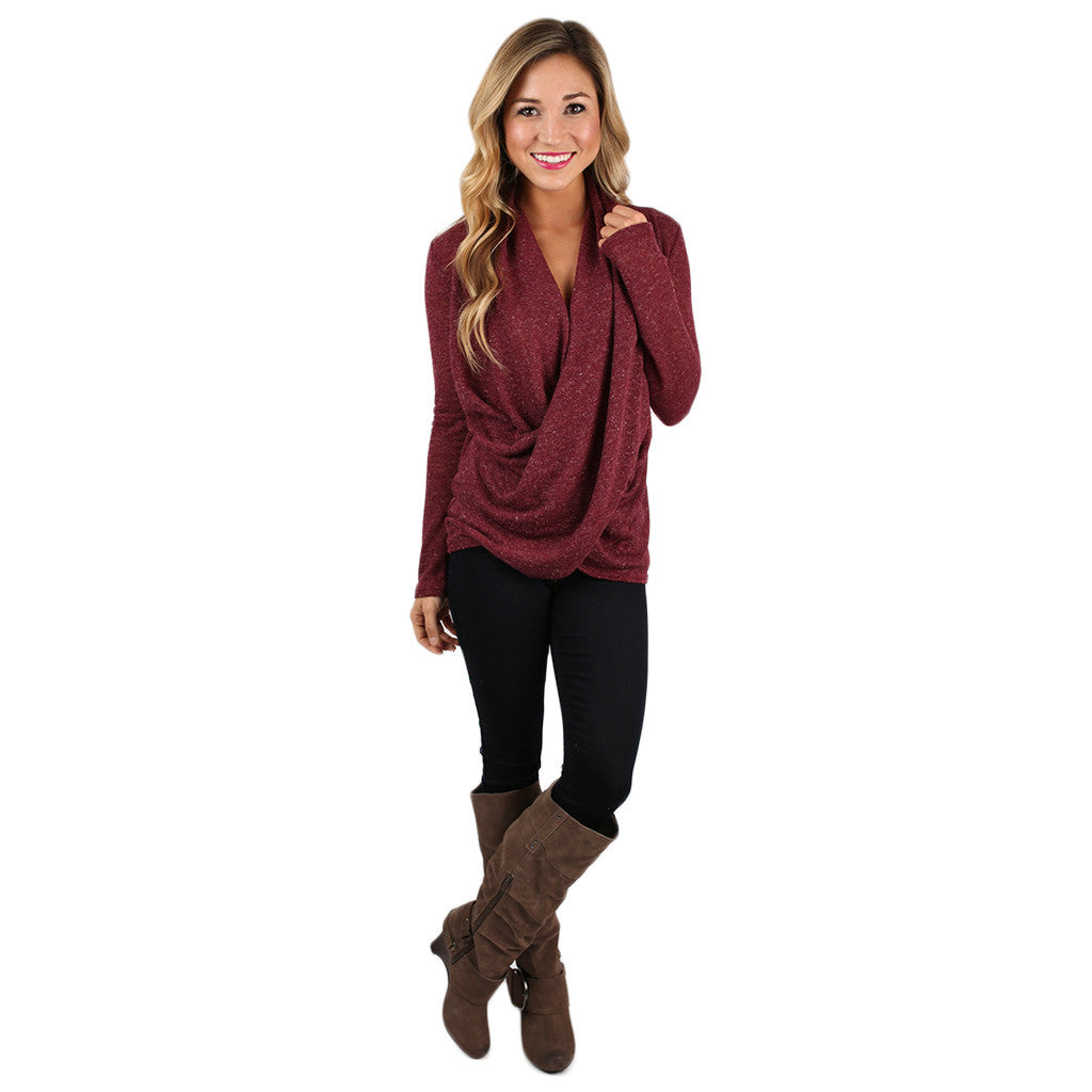 Sweet Harmony Top in Burgundy