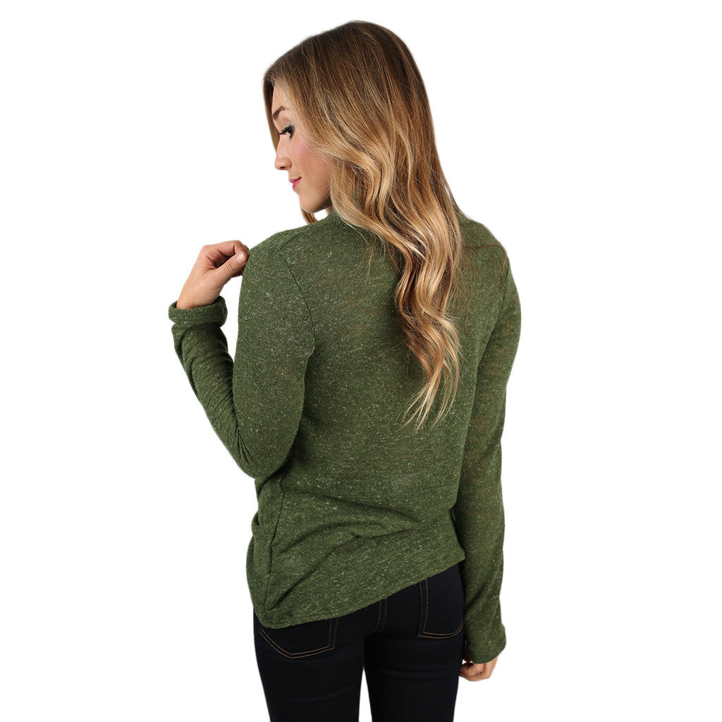 Sweet Harmony Top in Olive