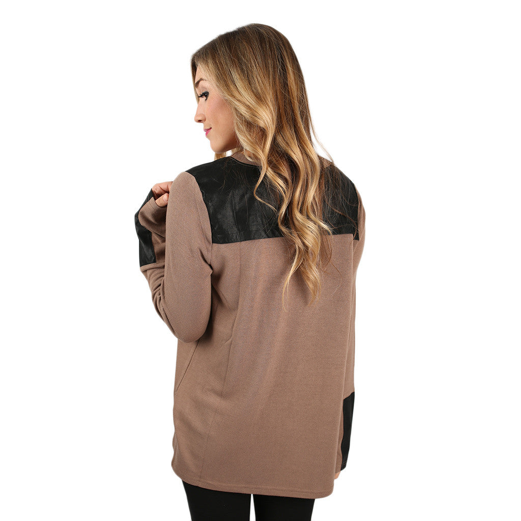 Think Chic Top Mocha