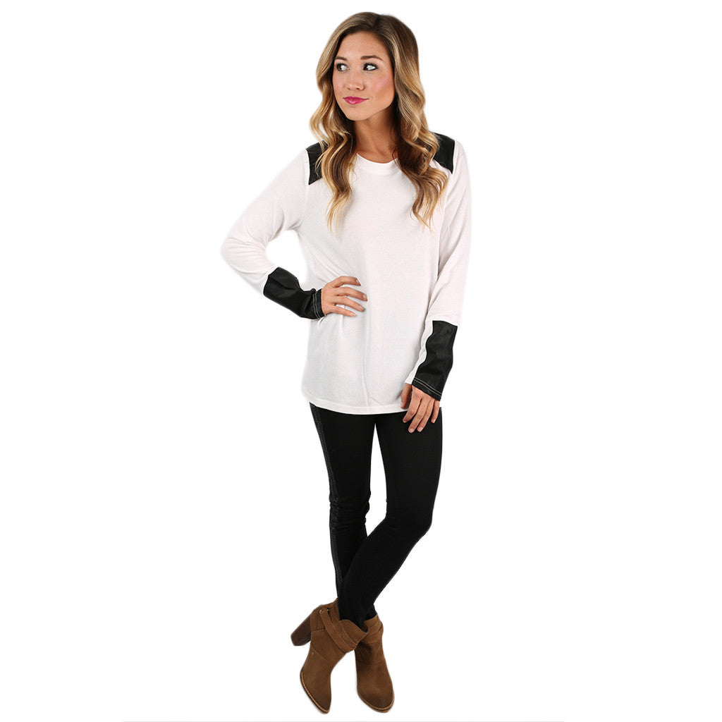 Think Chic Top Ivory