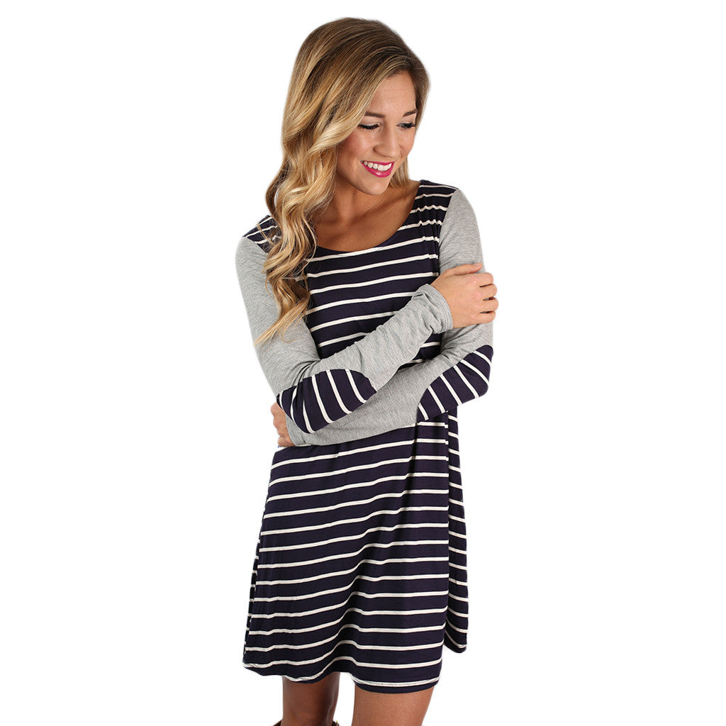 You're Not Dreaming Shift Dress in Navy