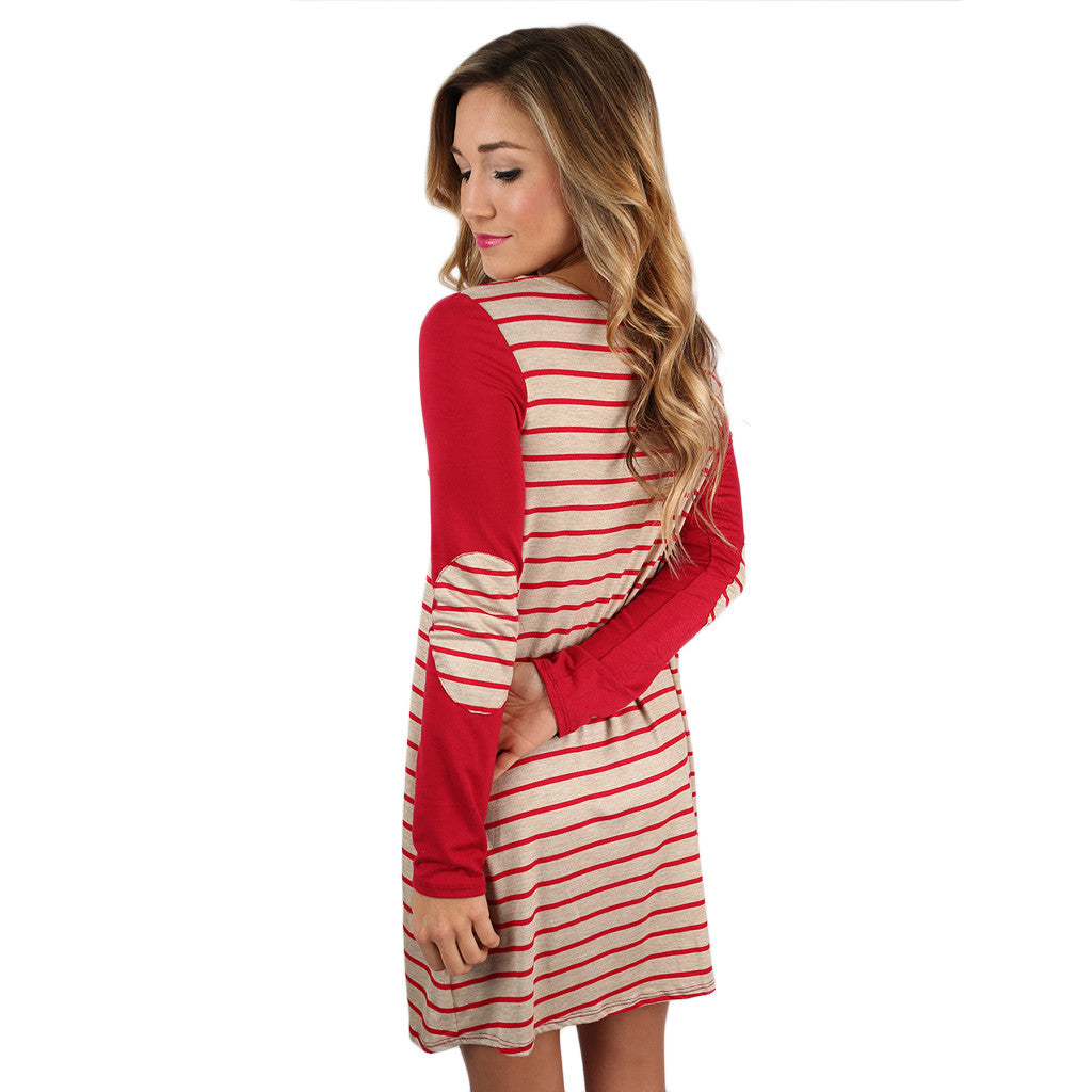 You're Not Dreaming Shift Dress in Red