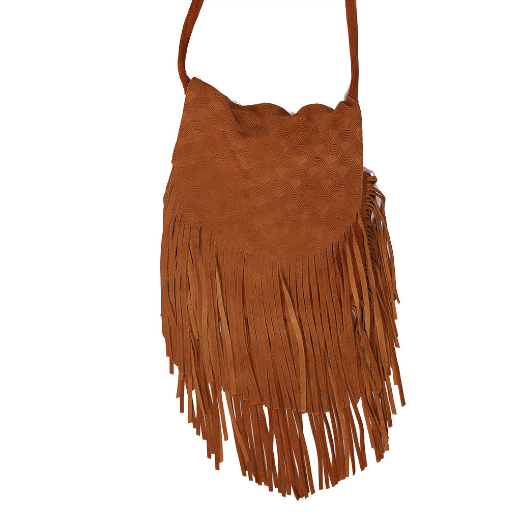Bohemian Vision Crossbody Bag in Brown