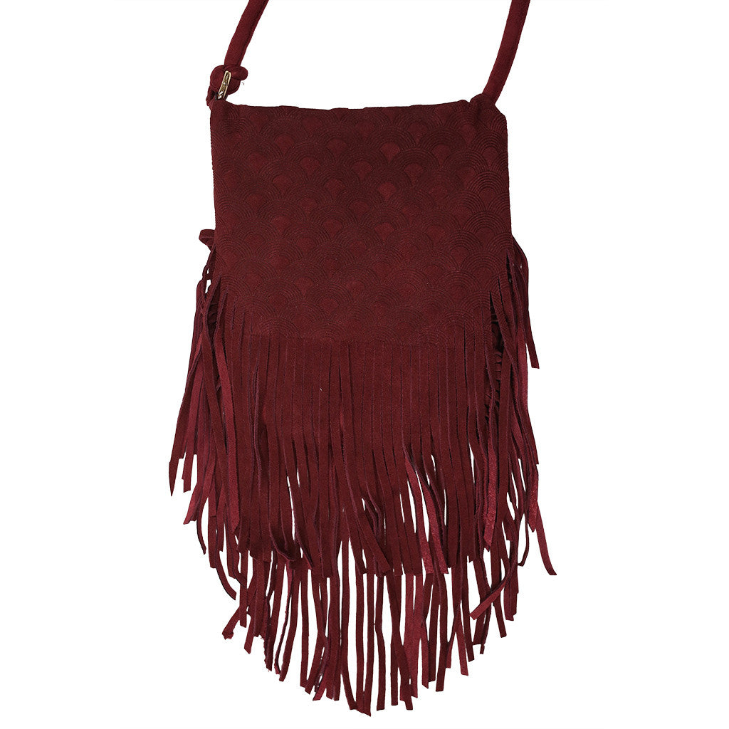 Bohemian Vision Crossbody Bag in Maroon
