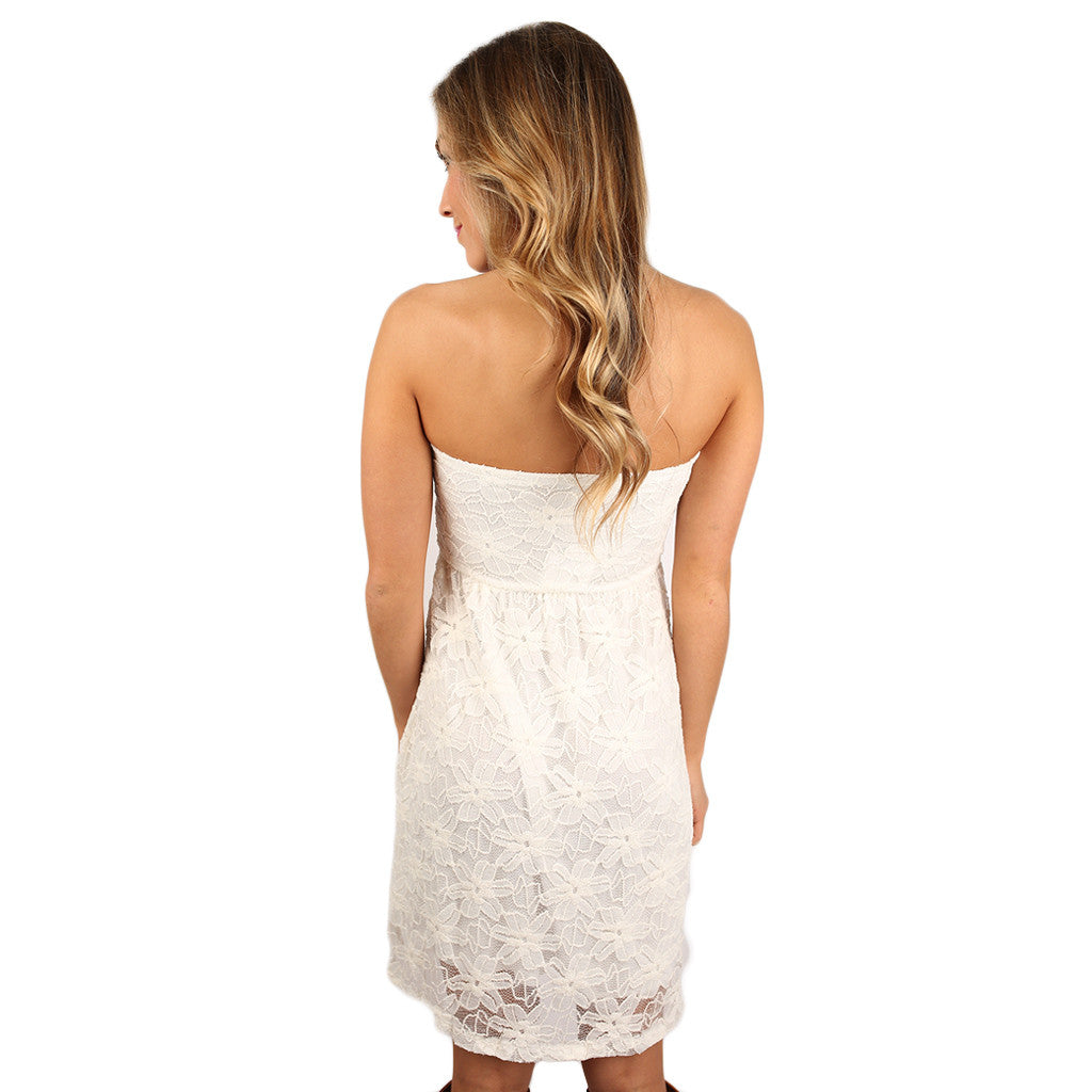 Moonlight Kisses Dress White