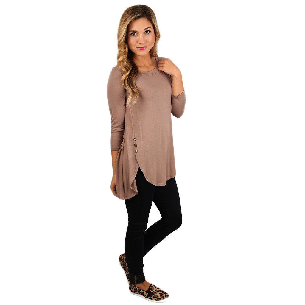 The Divine Girl Tee in Taupe
