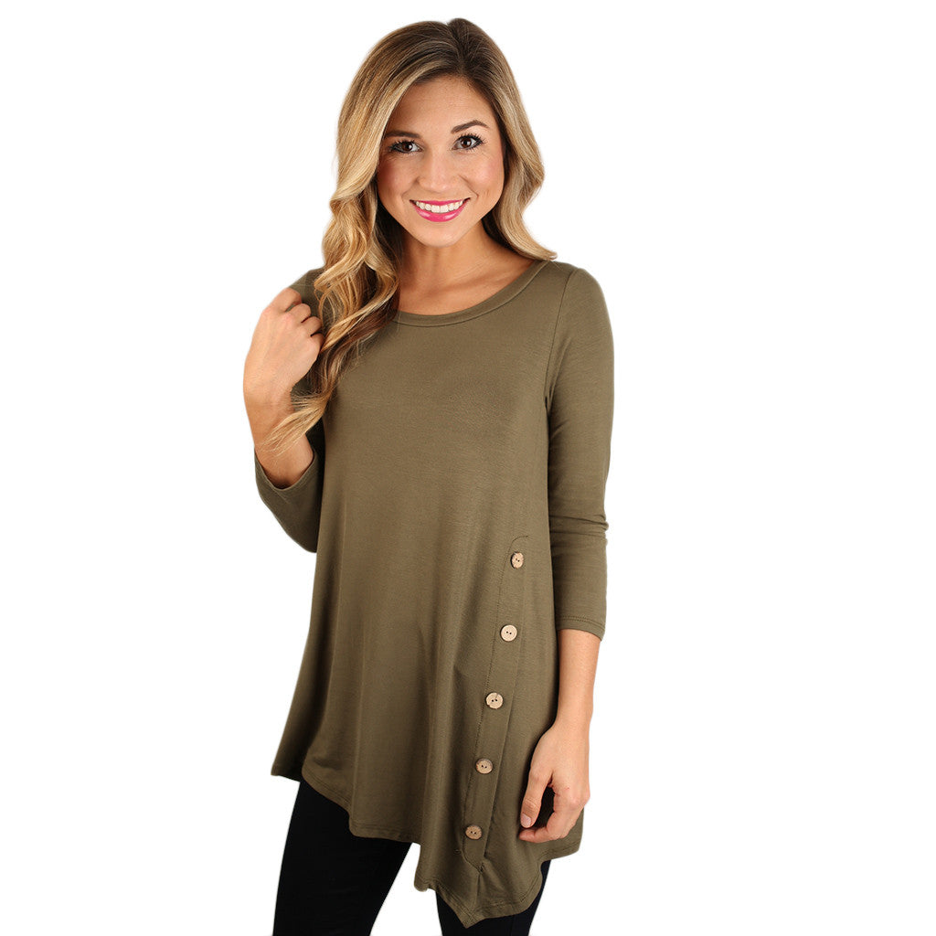 The Lucky Girl Tee Army Green